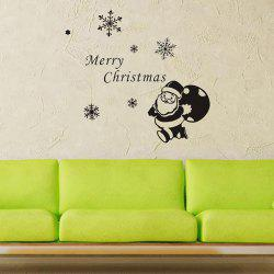 Christmas Santa Claus Gift Removeable Window Glass Wall Sticker