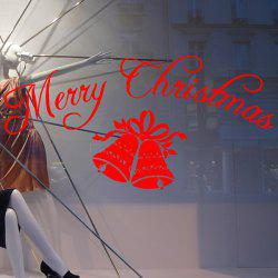 Merry Christmas Bells Removeable Window Glass Wall Sticker