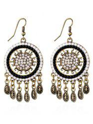 Rhinestone Water Drop Bohemian Earrings