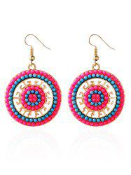 Circle Beads Bohemian Earrings - BLUE