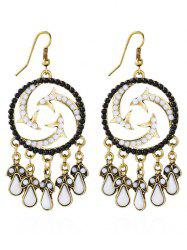 Bohemian Twisted Beads Water Drop Earrings