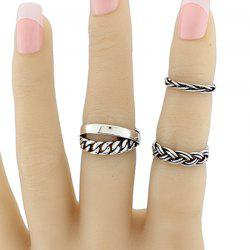Alloy Braid Circle Jewelry Ring Set