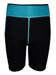 Color Block Running Sports Leggings - BLACK