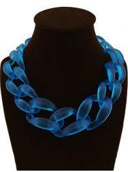 Candy Color Braided Acrylic Necklace