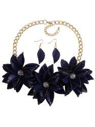 Leaf Blossom Necklace and Earrings -