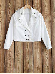Lapel Double-Breasted Jacket -