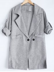 Slit Pocket Design Double Breasted Coat