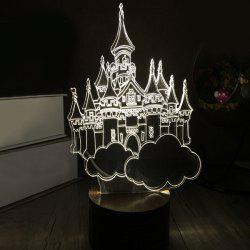 Ville de Sky 3D LED Bois Dormant Night Light - Blanc