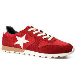 Colour Block Star Pattern Athletic Shoes -