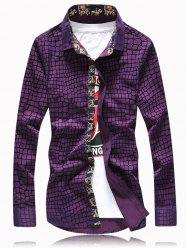 Checked Graphic Printed Long Sleeve Shirt -