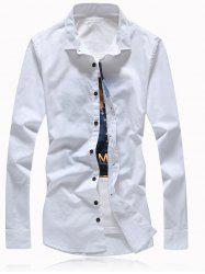 Button Embellished Turn-Down Collar Plus Size Shirt