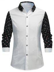 Triangle Pattern Slimming Long Sleeves Shirt -