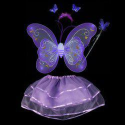 Halloween Supplies Butterfly Angel Dress Up 4PCS Kids Costume Set