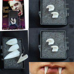 Halloween Party Gothic Vampire 4PCS Teeth Cosplay Prop - Blanc
