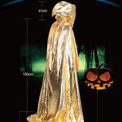 Halloween Party Supply Cosplay Death Hooded Cloak Costume - GOLDEN