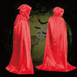 Halloween Party Supply Cosplay Death Hooded Cloak Costume - RED