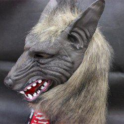 Halloween Cosplay Supply Scary Wolf Head Mask Prop