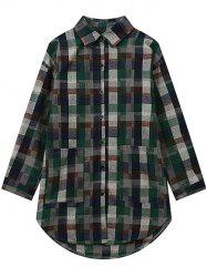 Checked Plus Size Graphic Shirt -