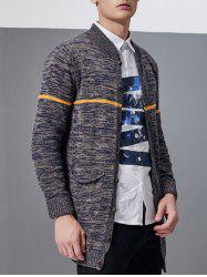 Pocket Design Line Space Dyed Cardigan -