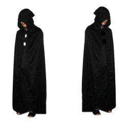 Halloween Party cosplay Hooded mort Costume Cape - Noir