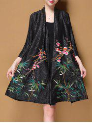 Long Embroidered Cardigan -
