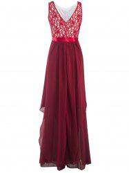 Chiffon Long Bridesmaid Wedding Formal Prom Maxi Dress - RED