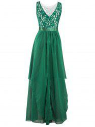 Chiffon Long Bridesmaid Wedding Formal Prom Dress - GREEN