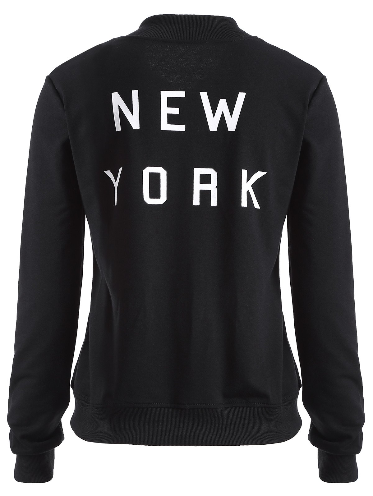 New York Print Zip Up Jacket
