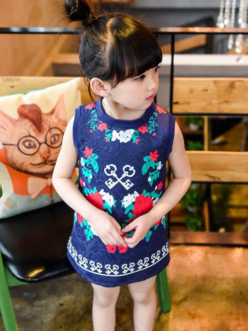 New Round Neck Flower Printed Dress