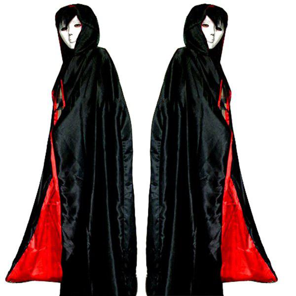 Hooded Cloak Cosplay Vampire Halloween Costume SupplyHOME<br><br>Color: RED WITH BLACK; Event &amp; Party Item Type: Other; Occasion: Halloween; Length: 1.5M; Weight: 0.280kg; Package Contents: 1 x Cloak;