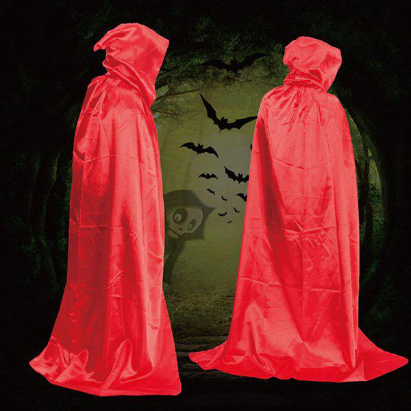 Halloween Party Supply Cosplay Death Hooded Cloak CostumeHOME<br><br>Color: RED; Event &amp; Party Item Type: Other; Occasion: Halloween; Length: 165-170CM?Including Hood?; Weight: 0.1700kg; Package Contents: 1 x Cloak;