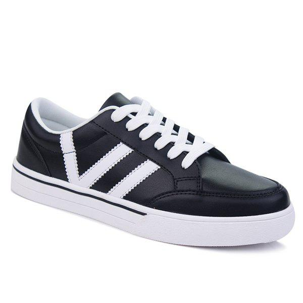 Couleur Splice Lace-Up Chaussures de skate
