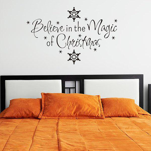 Christmas Snows Removeable Vinyl Wall Stickers CustomHOME<br><br>Color: BLACK; Wall Sticker Type: Plane Wall Stickers; Functions: Decorative Wall Stickers; Theme: Christmas; Material: PVC; Feature: Removable,Washable; Size(L*W)(CM): 57*24; Weight: 0.210kg; Package Contents: 1 x Wall Sticker;