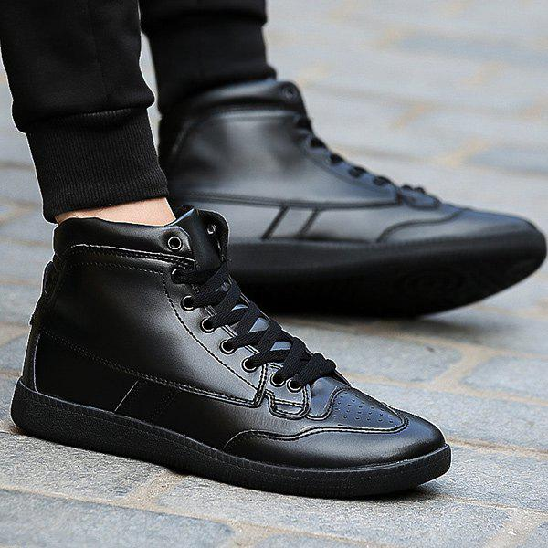 Best High Top PU Leather Athletic Shoes