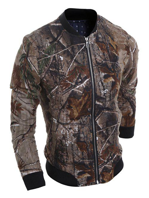 Pied de col 3D Deadwood Imprimer Jacket Multicolore XL