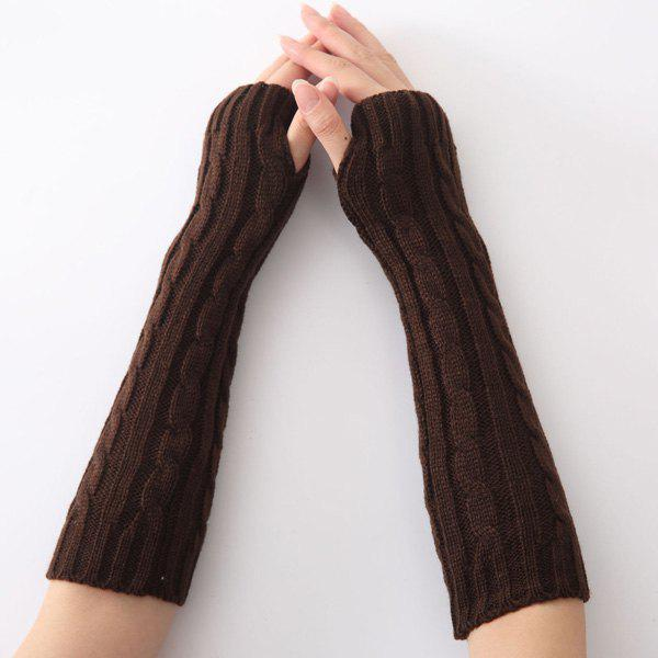 Christmas Winter Hemp Flowers Crochet Knit Arm WarmersACCESSORIES<br><br>Color: COFFEE; Group: Adult; Gender: For Women; Style: Fashion; Glove Length: Elbow; Pattern Type: Solid; Material: Spandex; Weight: 0.069kg; Package Contents: 1 x Arm Warmers(Pair);