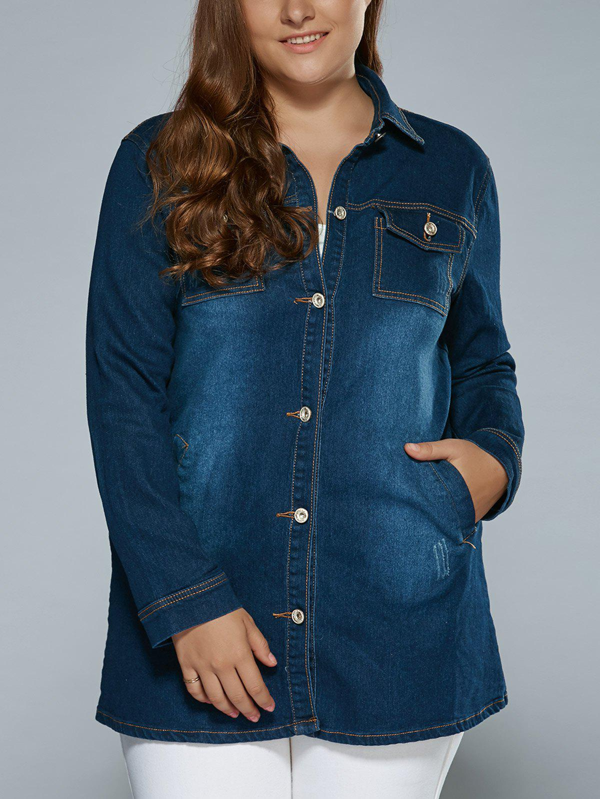 Poches extensibles Denim Trench Coat