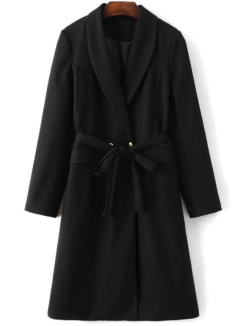 Outfits Belted Wool Blend Long Shawl Coat