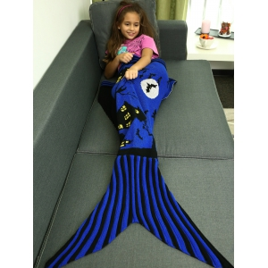 Super Soft Acrylic Knitted Halloween Mermaid Tail Blanket