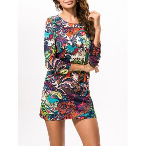 Ethnic Printed Mini Dress