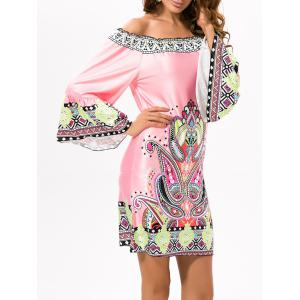 Off Shoulder Printed Ethnic Dress
