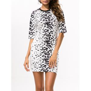 Bodycon Leopard Print Mini T Shirt Dress