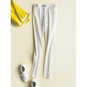 Fleece High-Waisted Slimming Ankle Pencil Pants
