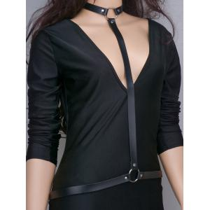 Punk Faux Leather Body Chain