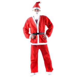 High Quality Christmas Santa Claus Set Costume - Red - One Size