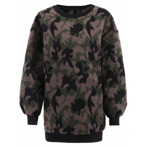 Thicken Camo Pullover Sweatshirt