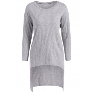 Long Sleeve High Low Sweater