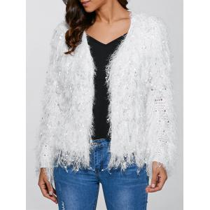 Feather Tassels Hand-Knitted Cardigan