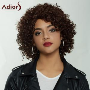 Adiors Short Shaggy Side Parting Curly Synthetic Wig