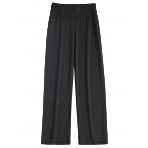 Long Stretch Elastic Waist Wide Leg Work Pants